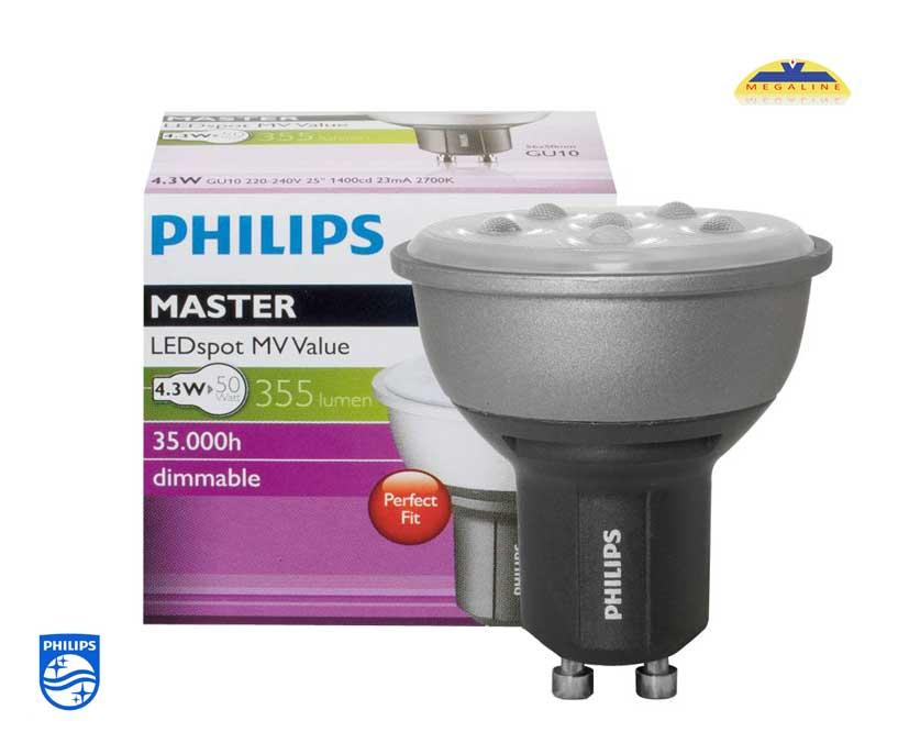 Đèn chiếu Master LED 4,3-50W GU10 Dimmer Philips