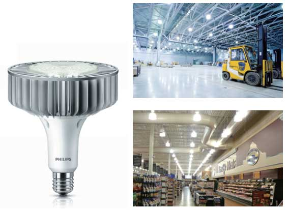 ứng dụng đèn highbay TForce Core HB 200-160W E40 840 GM Philips
