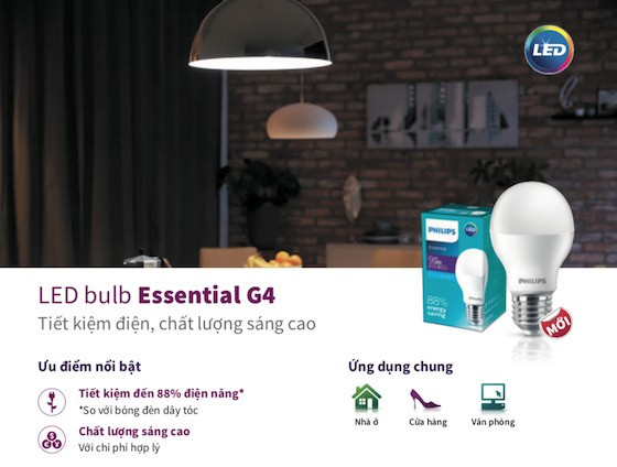 bóng đèn led bulb tiết kiệm điện Philips