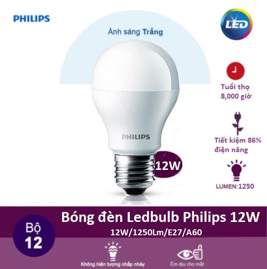 Đèn led bulb philips chiếu sáng căn phòng