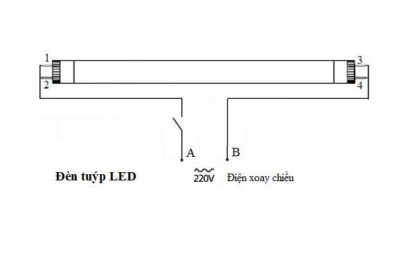 cách lắp đèn tuýp