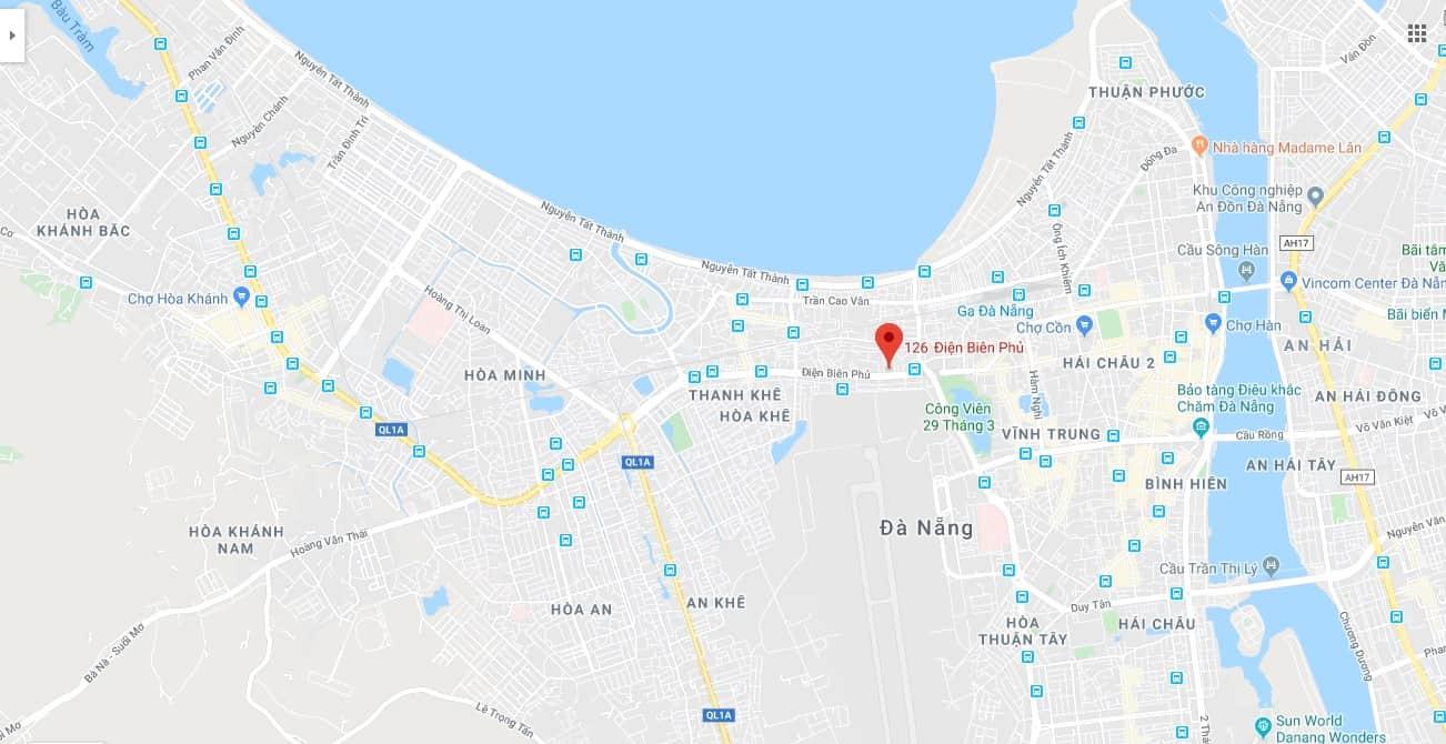 Bản đồ địa chỉ bán đèn tại đà nẵng