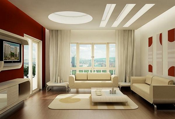 Không gian nội thất chiếu sáng