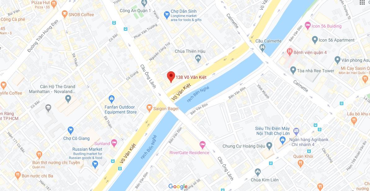địa chỉ trên google map showroon chúng tôi