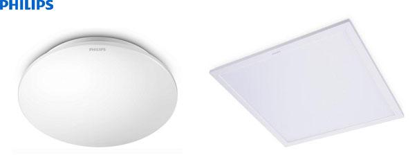 Các loại đèn led cao cấp như các loại đèn led âm trần panel, ốp trần, âm trần