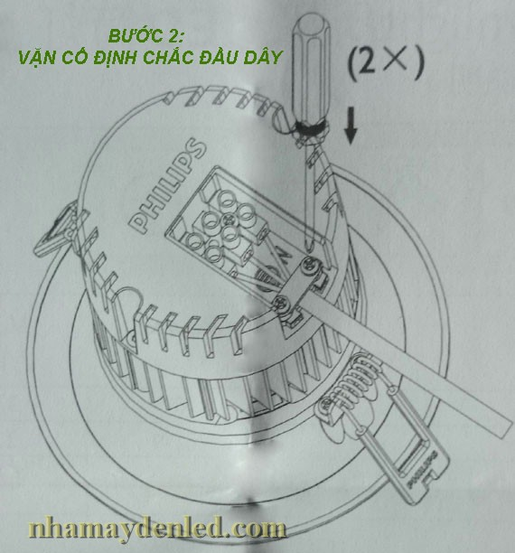 cố định ốc vit đèn downlight dn051b