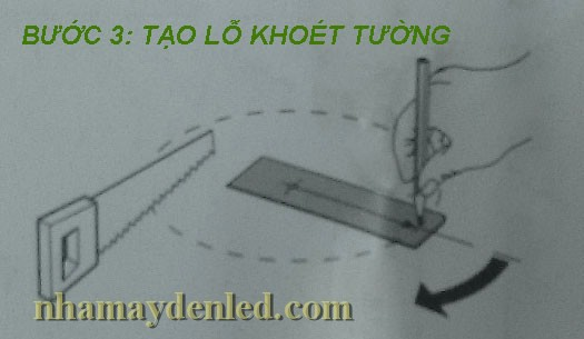 tạo lỗ khoét lắp đèn âm trần