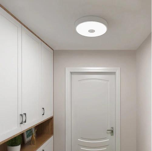 Đèn led ốp trần với trần thạch cao phòng khách