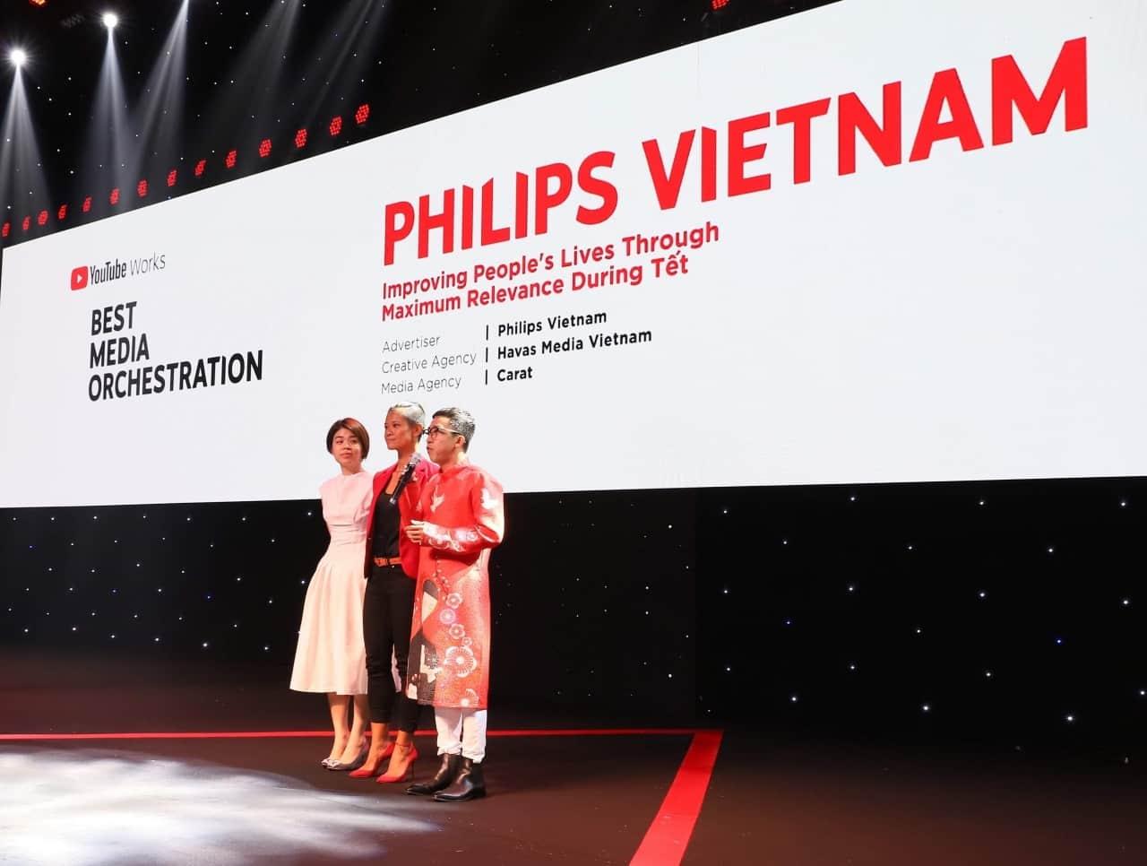 Philips giành được hạng mục Best Media Orchestration của Youtube