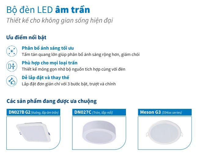 ưu điểm khi sử dụng đèn led âm trần cho phòng khách