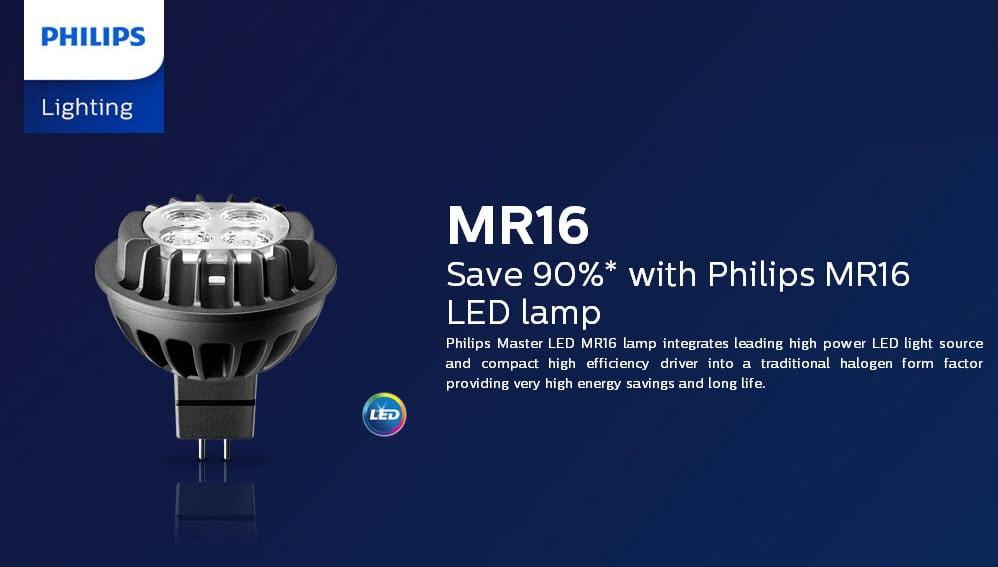 Lợi ích khi sử dụng đèn led chiếu điểm Master LED MR16 7-50W Philips