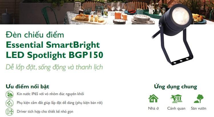 Ứng dụng đèn led chiếu điẻm BGP150 Philips