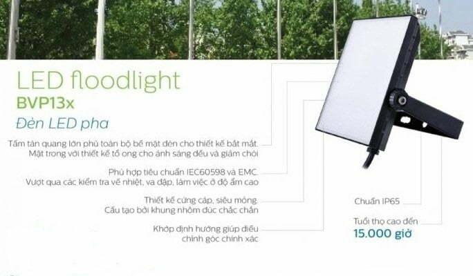 Ưu điểm của đèn pha Philips BVP135 LED40 Philips