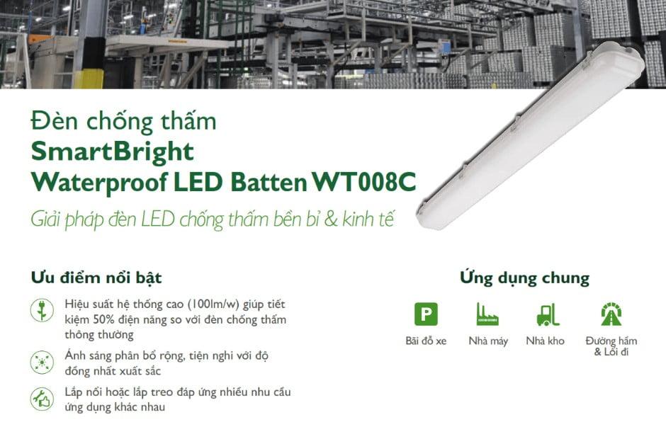 Hướng dẫn lắp đặt và sử dụng đèn chống thấm đèn chống thấm 60W LED60 WT008C Philips