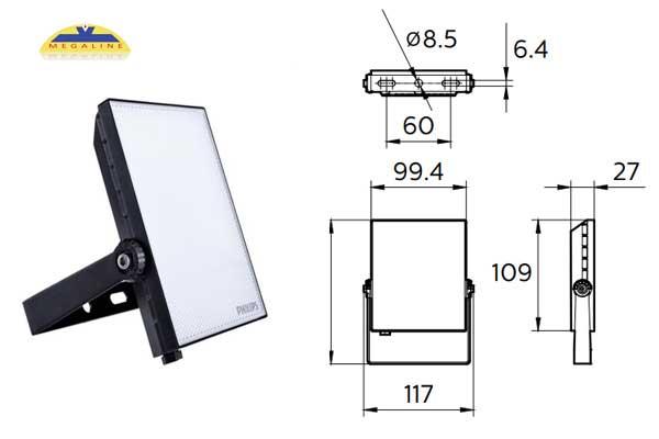 Đèn pha Essential BVP132 LED16 20W Philips