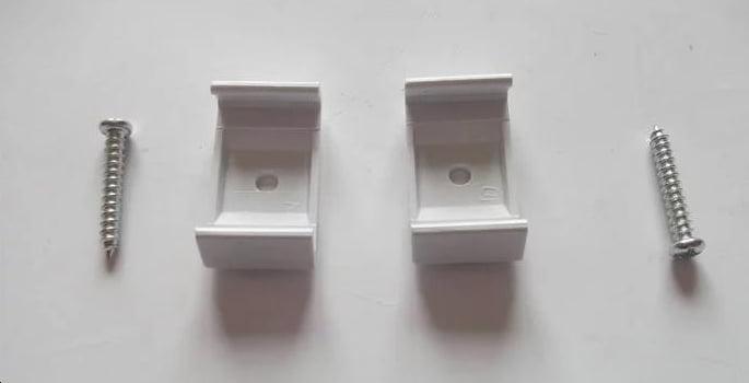 Giắc nối và đinh ốc giữ máng đèn t5